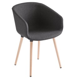 Basket BL Chair – Fully Upholstered with Timber Legs