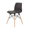 Arco Chair – Timber Eiffel Base with Fully Upholstered Shell