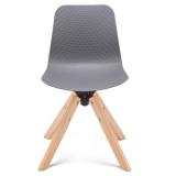 Arco Timber Swivel Base Nude Polypropylene Shell