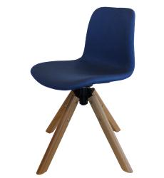 Arco Timber Swivel Base Fully Upholstered Shell