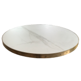 Custom Metal Edged Table Top