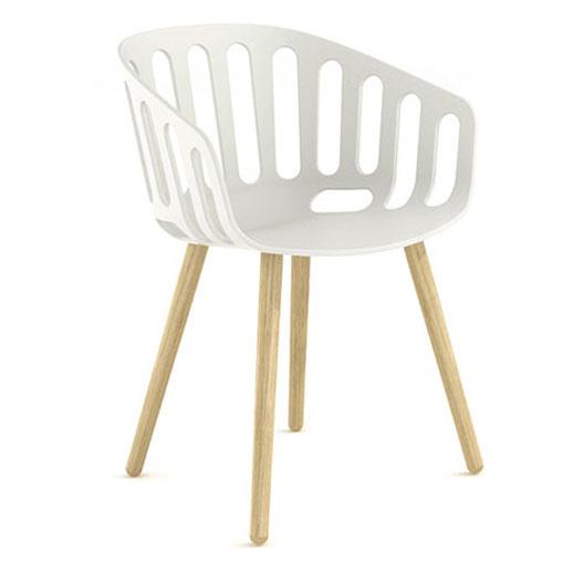 Basket Chair, Timber Legs
