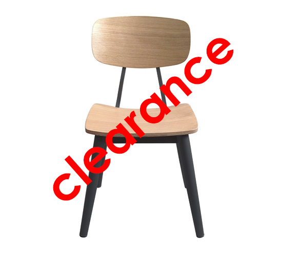 Industri Chair – Black Frame with Natural Timber Seat and Back