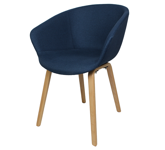 Arn Tub with Timber Loop Legs (Fully Upholstered)