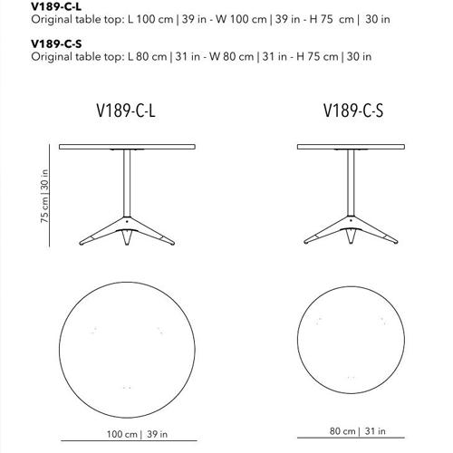 Compass Bistro Table (Circular)