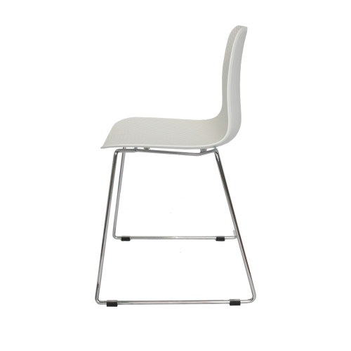 Arco Chair – Sled Base – Nude Polypropylene Shell