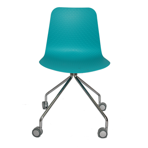 Arco Chair – 4 Star Fixed Base with Castors – Nude Polypropylene Shell