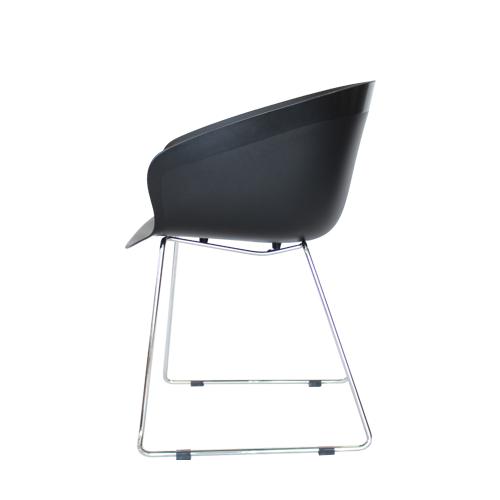 Arn Tub Chair with Chrome Sled base