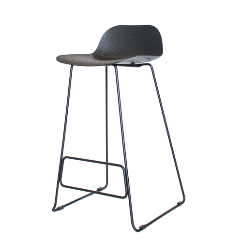 Arco Stool – Powdercoated Base with Nude Polypropylene Shell