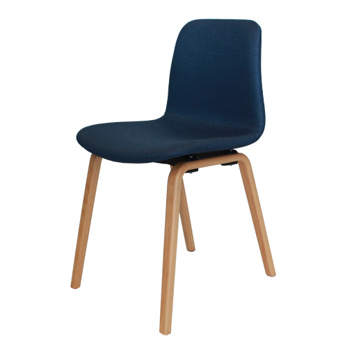 Arco Chair – Timber Loop Base (Upholstered)