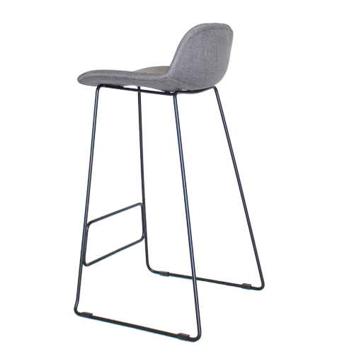 Arco Stool – Powdercoated Base with Fully Upholstered Shell