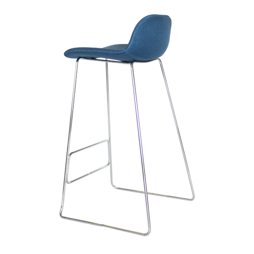 Arco Stool – Chrome Base with Fully Upholstered Shell