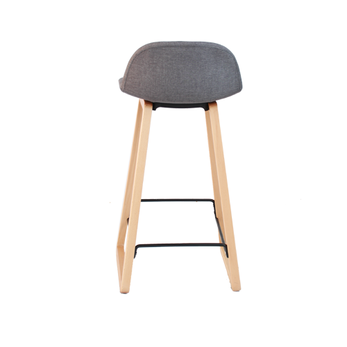 Arco Timber Loop Base Stool with Fully Upholstered Shell