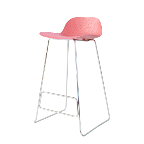 Arco Stool – Chrome Base with Nude Polypropylene Shell