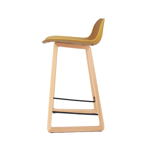 Arco Stool – Timber Base with Nude Polypropylene Shell