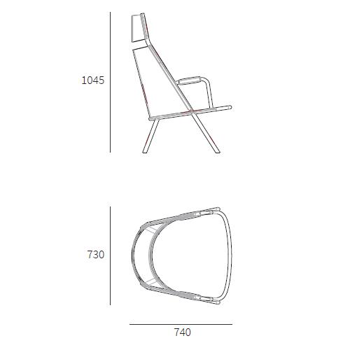 Zafra High Back Lounge Chair